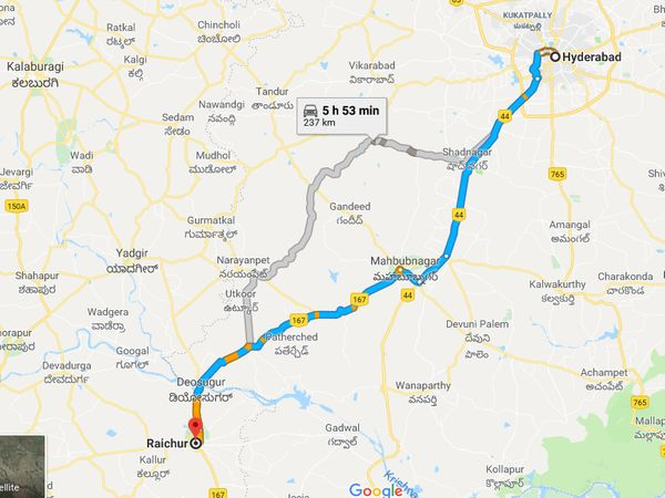 How To Reach Raichur From Hyderabad
