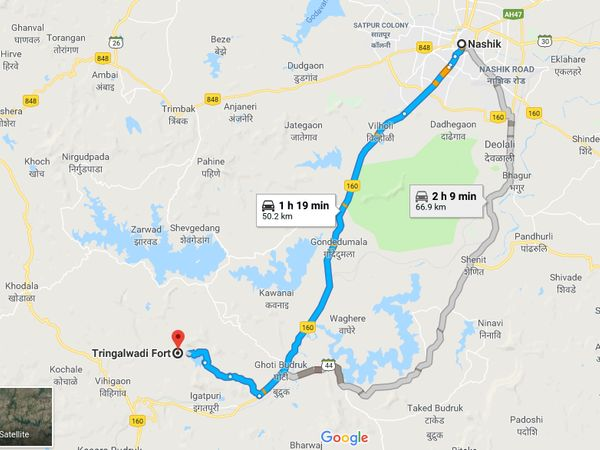 How To Reach Tringalwadi Fort