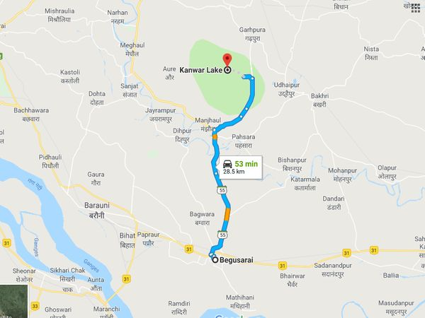 How To Reach Kanwar Lake Bird Sanctuary