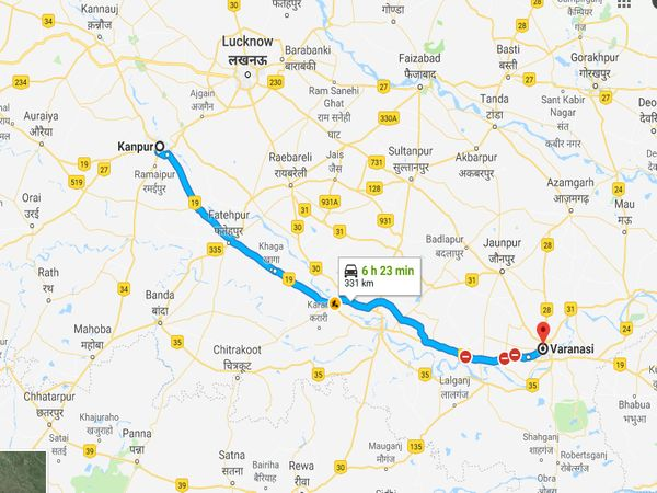 How To Reach Varanasi From Kanpur