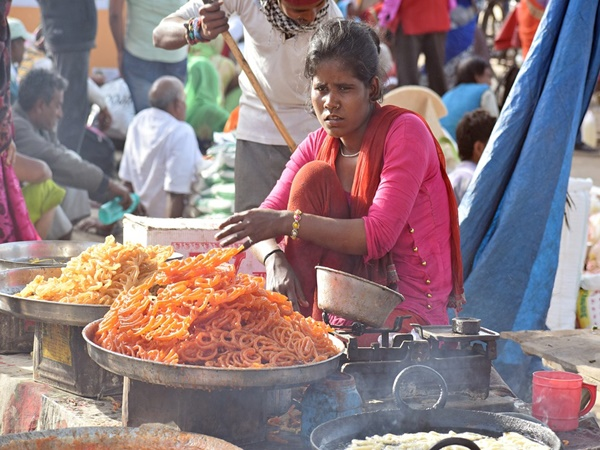 4. Food and colourful bazars