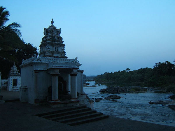 Confluence Of Lokapavani And Cauvery Rivers