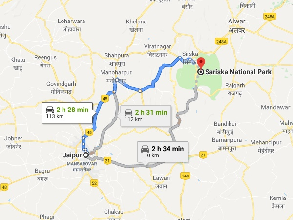 How To Reach Sariska