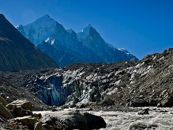 2. Taste the purest form of freshwater at Gangotri Glacier