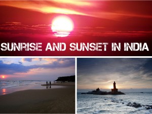 Sunrise Sunset Points India
