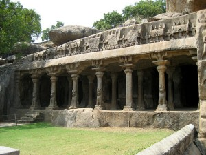 Panchapandava Cave Temple In Mahabalipuram