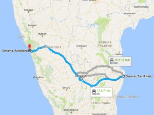 Road Trip From Chennai To Gokarna Marina Beach To Om Beach