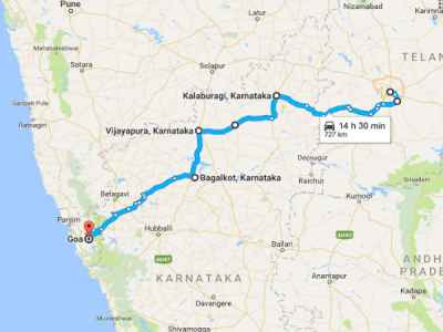 Hyderabad To Goa Route Map Hyderabad To Goa: A Weekend Road Trip   Nativeplanet Hyderabad To Goa Route Map