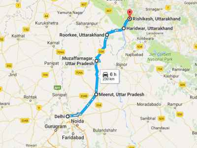 A Drive From New Delhi To Rishikesh - Nativeplanet on hotels rishikesh india, map of london, uttaranchal india, map of los angeles, map of new york,