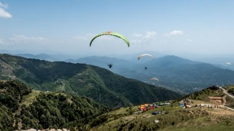 Paragliding At Bir, Himachal Pradesh