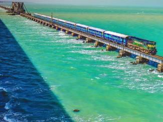 Image result for पंबन ब्रिज या एनाई इंदिरा रोड ब्रिज rameshwaram