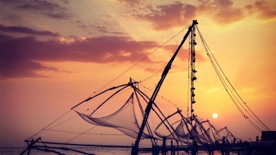 Chinese Fishing Nets At Vypeen Island