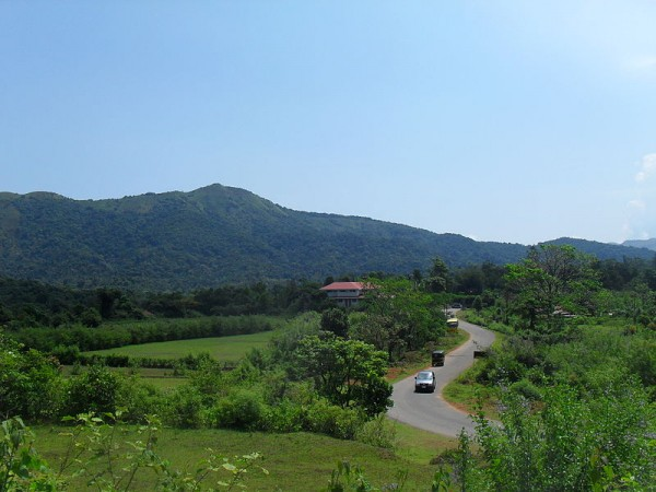 Coorg photos, Bhagamandala - A Distant View