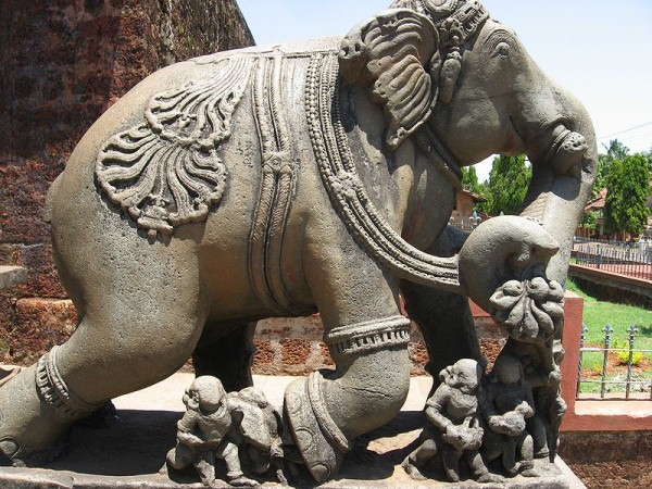 Banavasi Photos - Elephant At The Temple Entrance