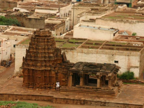 Badami Photos - Distant view of the temple