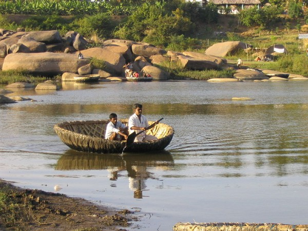 Hampi Photos - Tungabhadra River - Boating
