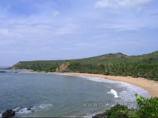 Gokarna photos, Om Beach - During Daylight