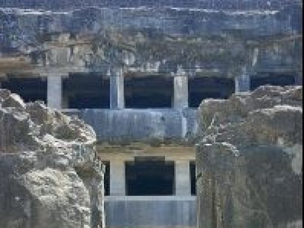 Ellora photos, Buddhist Group Of Caves - A Stairway