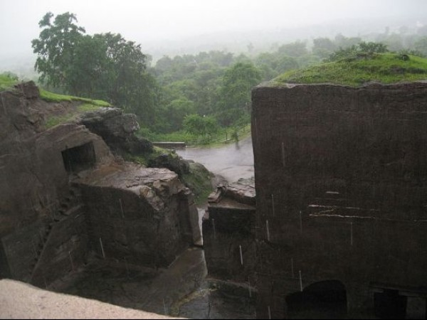 Ellora photos, Buddhist Group Of Caves - An Outer View
