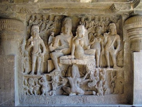 Ellora photos, Brahmanical Group of Caves - Shiva Parvathi