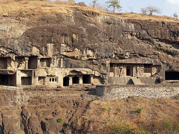 Ellora photos, Ellora - The Caves From A Distance