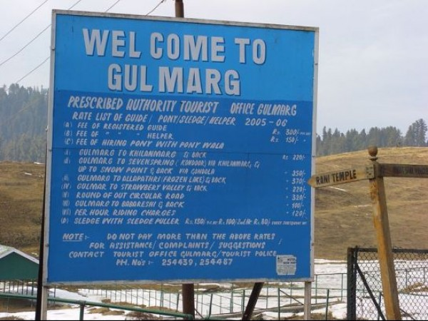 Gulmarg photos, Gulmarg Tourist Rate List