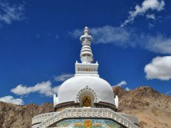 Leh photos, Shanti Stupa