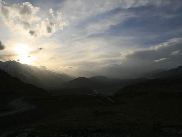 Ladakh photos, Sunset in Ladakh