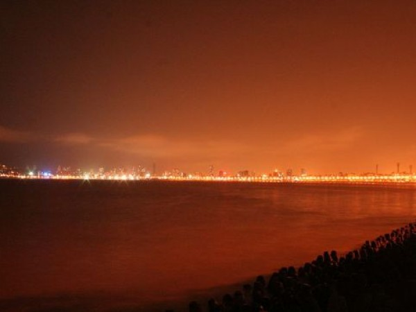 Mumbai photos, Marine Drive - City at Dusk