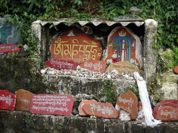Dharmashala photos, Tsuglagkhang - Prayers Etched on Stones