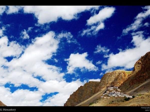 Spiti photos, Key monastery - A distant view