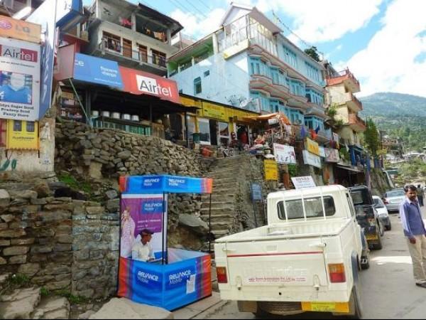 Kalpa photos, Reckong Peo - View of the Main Street