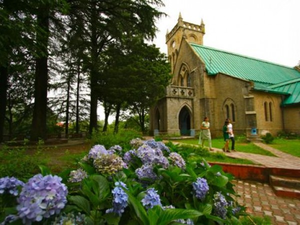 Kasauli photos, Christ Church - Amidst green gardens