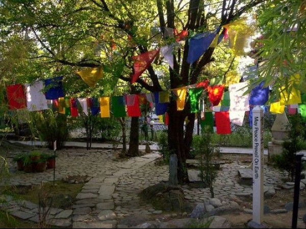 Dharmashala photos, Norbulingka Institute - colourful flags