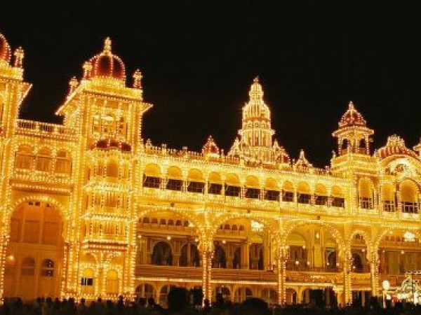 Mysore photos, Mysore Palace - Lit Up WIth Over A Lakh Bulbs