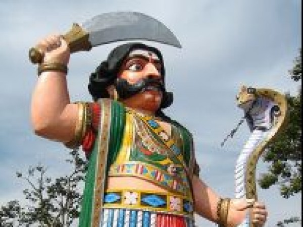Mysore photos, Chamundi Hills - Mahishasura At The Entrance