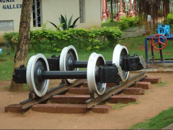 Mysore photos, Rail Museum - Train Wheels