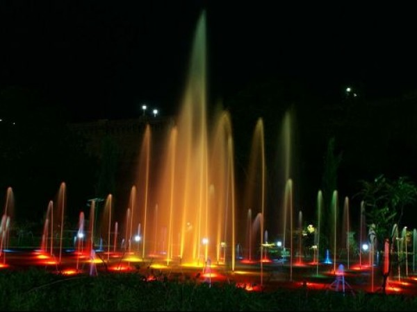 Mysore photos, Brindavan Gardens - A Colourful Fountain