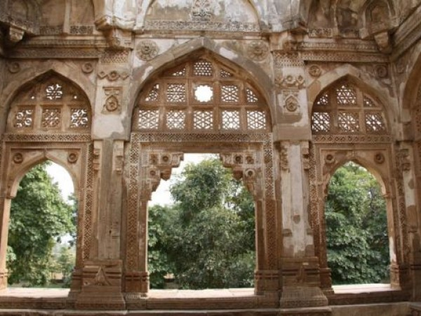 Champaner photos, Jama Masjid - Ornate Carvings
