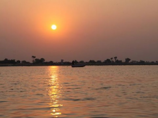 Ahmedabad photos, Nalsarovar Bird Sanctuary - Sunset