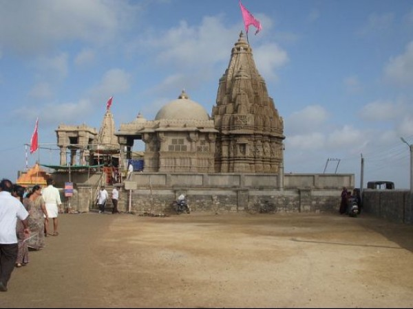 Dwarka photos, Rukmini Devi Temple - A Distant View
