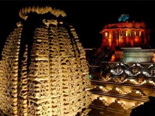 Danta photos, Modhera Sun temple - Beutifully Lit Structure