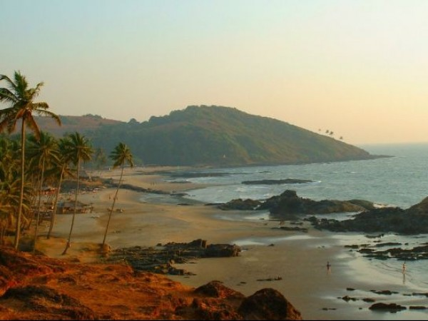 Goa photos, Vagator Beach - Naturally Coloured!