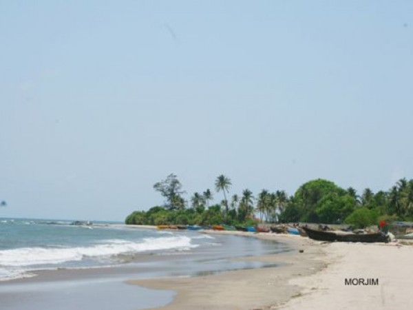 Goa photos, Mojrim Beach - Approaching waves