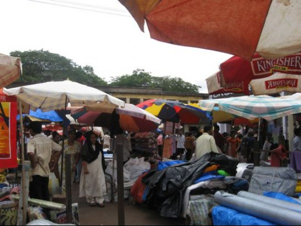 Goa photos, Mapusa - Cloths on Sale at Mapusa Market
