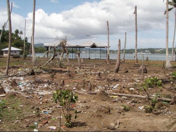 Andaman and Nicobar photos, Viper Island - After Tsunami