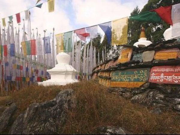 Yuksom photos, Tashiding Monastery - Colourful Flags