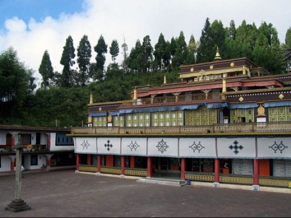 Rumtek photos, Rumtek Monastery - Side View