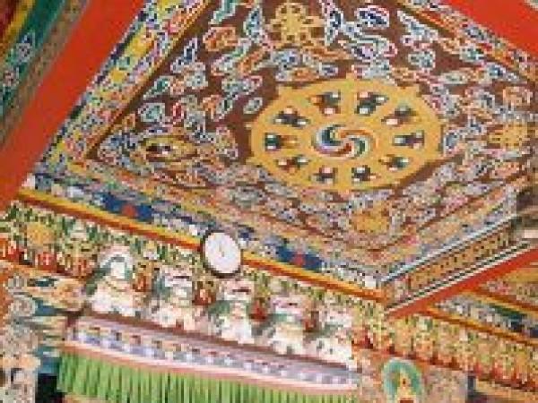 Rumtek photos, Rumtek Monastery - Decorated Inner View