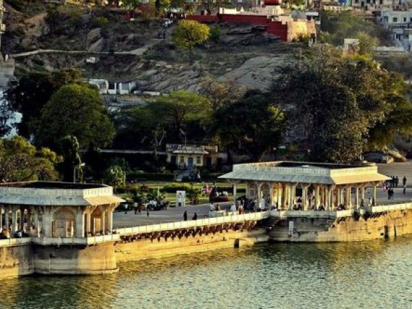 Ajmer photos, Ana Sagar Lake - Panoramic view